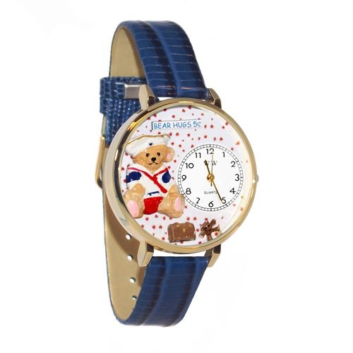Teddy Bear Hugs Watch in Gold (Large)