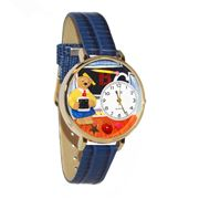 Teacher Teddy Bear Watch in Gold (Large)