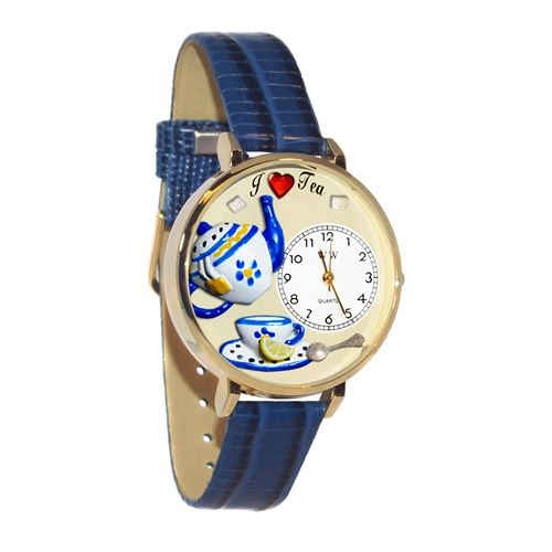 Tea Lover Watch in Gold (Large)