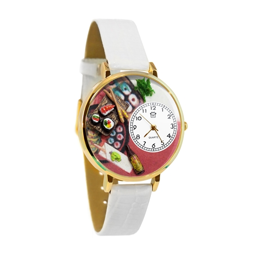 Sushi Watch in Gold (Large)