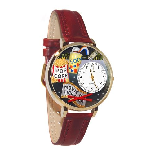 Movie Lover Watch in Gold (Large)