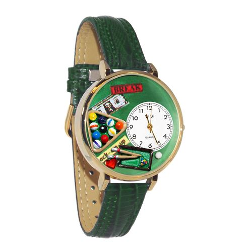 Billiards Watch in Gold (Large)