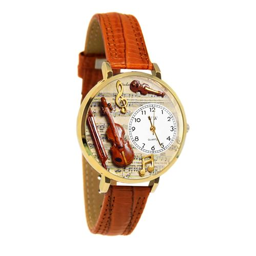 Violin Watch in Gold (Large)