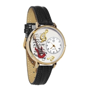 Electric Guitar Watch in Gold (Large)
