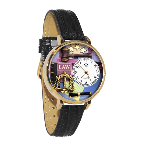 Lawyer Watch in Gold (Large)