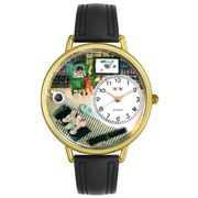 Psychiatrist Watch in Gold (Large)
