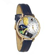 Police Officer Watch in Gold (Large)