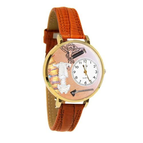 Chiropractor Watch in Gold (Large)