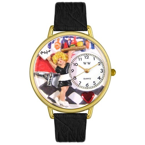 Waitress Watch in Gold (Large)