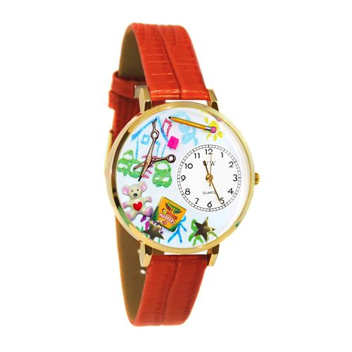 Preschool Teacher Watch in Gold (Large)
