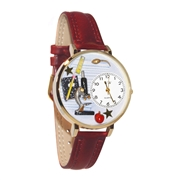 Science Teacher Watch in Gold (Large)