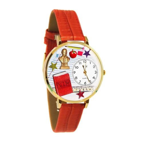 English Teacher Watch in Gold (Large)