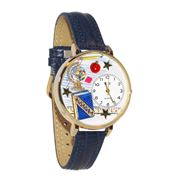 History Teacher Watch in Gold (Large)