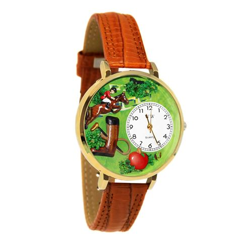 Horse Competition Watch in Gold (Large)