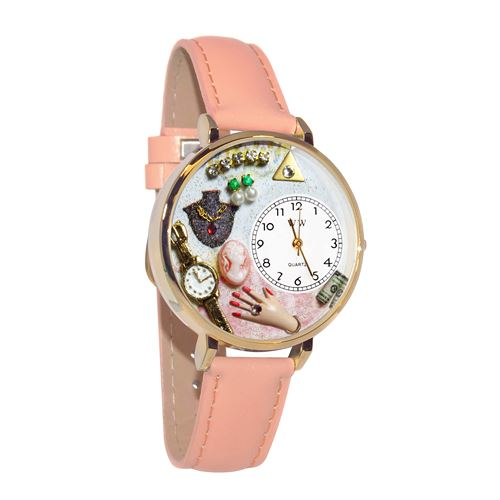 Jewelry Lover Pink Watch in Gold (Large)