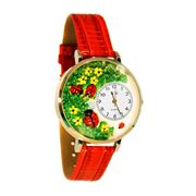 Ladybugs Watch in Gold (Large)