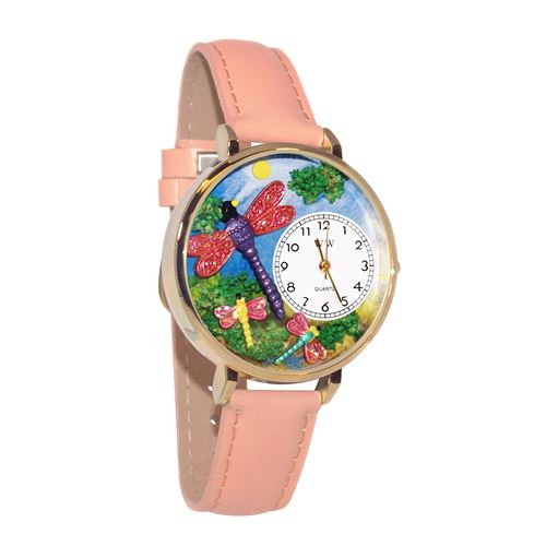 Dragonflies Watch in Gold (Large)