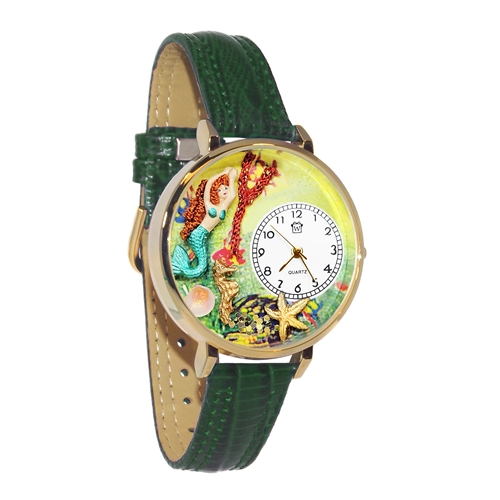 Mermaid Watch in Gold (Large)