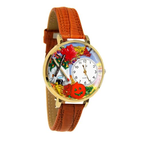 Autumn Leaves Watch in Gold (Large)