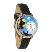 Halloween Flying Witch Watch in Gold (Large)