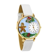 Christmas Gingerbread Watch in Gold (Large)