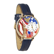 July 4th Patriotic Watch in Gold (Large)