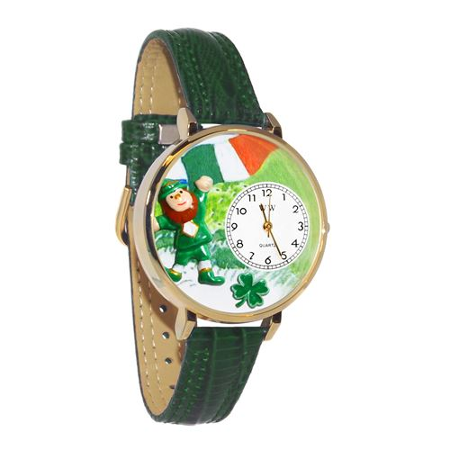 St. Patrick's Day Watch (Irish Flag) in Gold (Large)