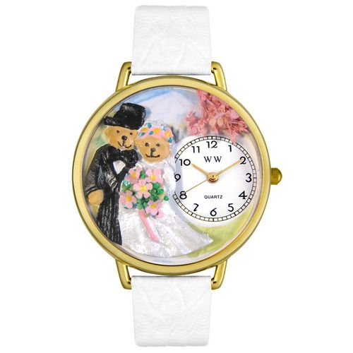 Teddy Bear Wedding Watch in Gold (Large)