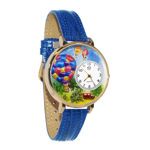 Hot Air Balloons Watch in Gold (Large)