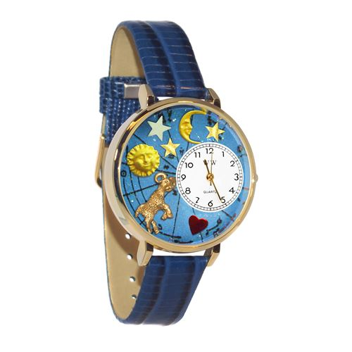 Aries Watch in Gold (Large)