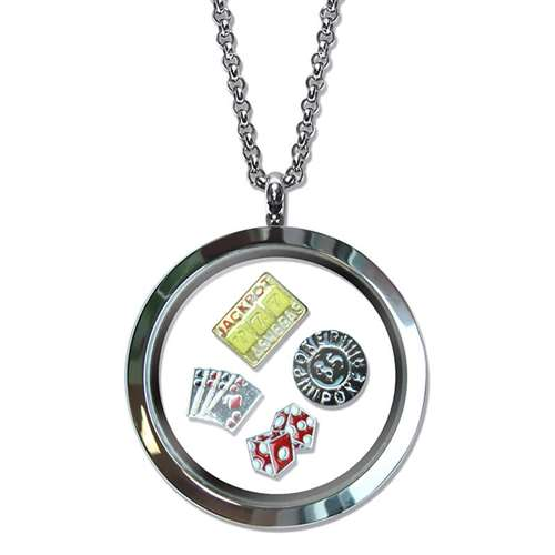 Casino Floating Locket