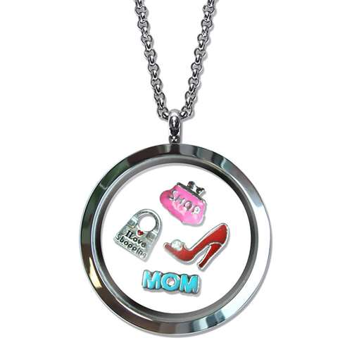 Shopper Mom Floating Locket