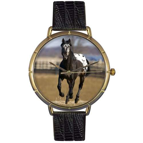 Appaloosa Horse Print Watch in Gold Large