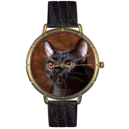 Bombay Cat Print Watch in Gold Large