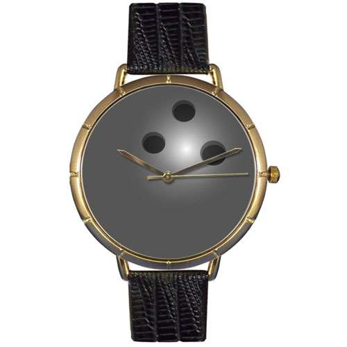 Bowling Lover Watch Large Gold Style