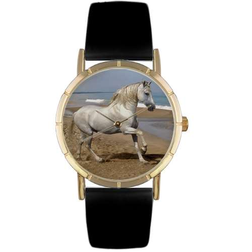 Andalusian Horse Print Watch in Gold Small