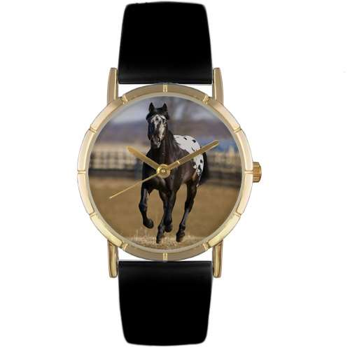 Appaloosa Horse Print Watch in Gold Small