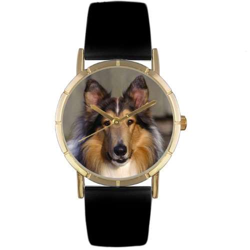 Collie Print Watch in Gold Small