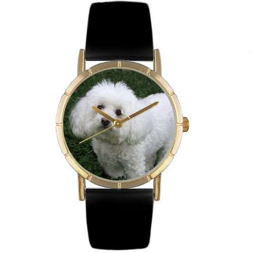 Bichon Print Watch in Gold Small