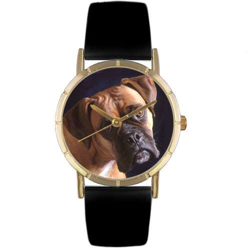 Boxer Print Watch in Gold Small