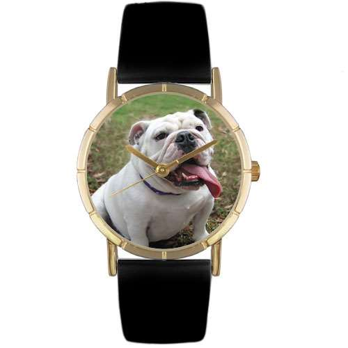 Bulldog Print Watch in Gold Small