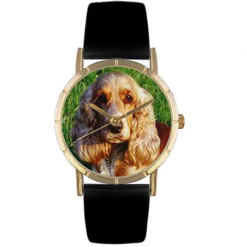 Cocker Spaniel Print Watch in Gold Small