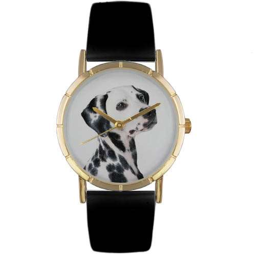 Dalmatian Print Watch in Gold Small
