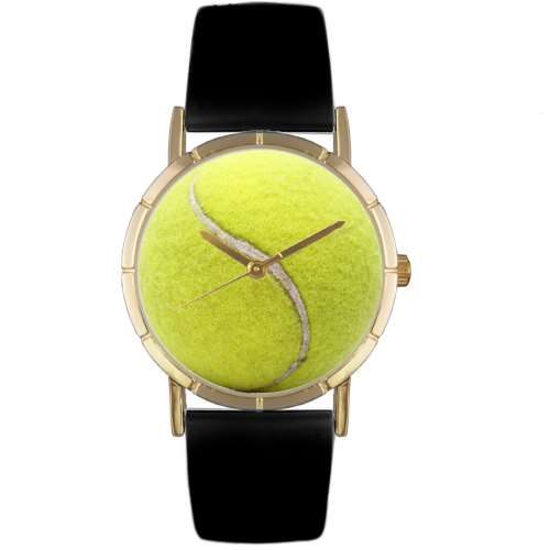 Tennis Lover Print Watch Small Gold Style