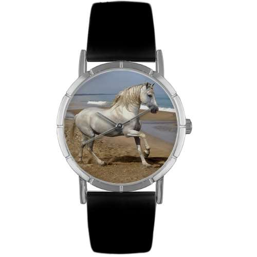 Andalusian Horse Print Watch in Silver Small