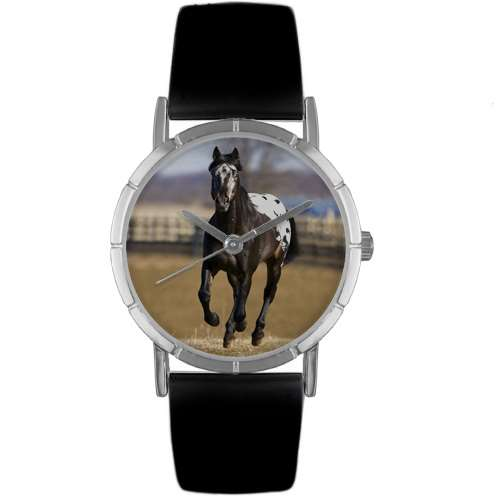 Appaloosa Horse Print Watch in Silver Small