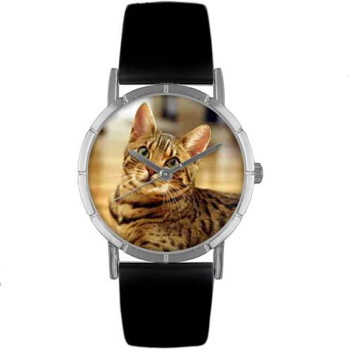 Bengal Cat Print Watch in Silver Small