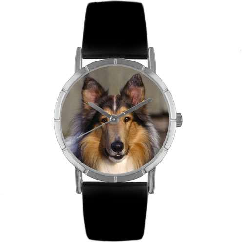 Collie Print Watch in Silver Small