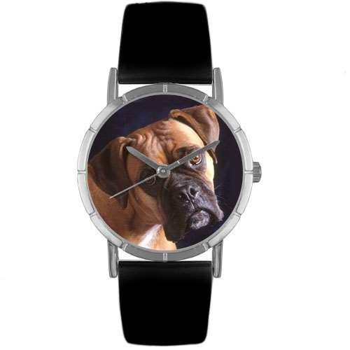 Boxer Print Watch in Silver Small
