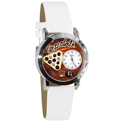 Chocolate Lover Watch Small Silver Style